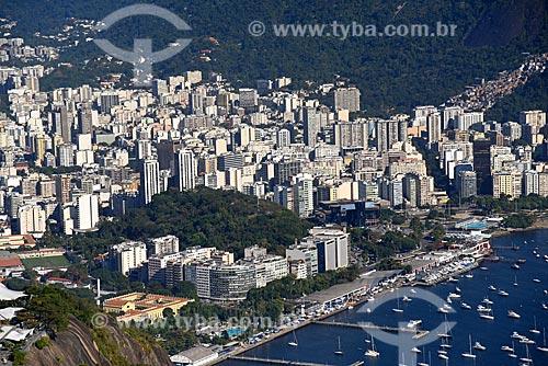Vista do bairro de Botafogo e do Morro do Pasmado a partir do Pão de Açúcar  - Rio de Janeiro - Rio de Janeiro (RJ) - Brasil