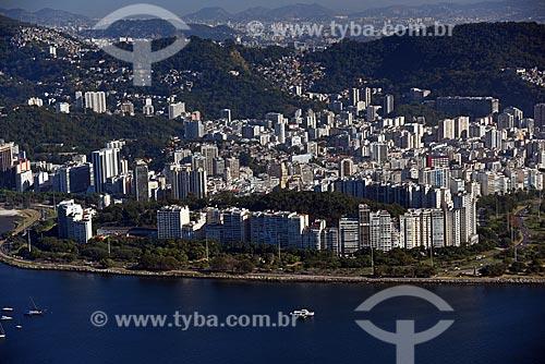 Vista do bairro do Flamengo a partir do Pão de Açúcar  - Rio de Janeiro - Rio de Janeiro (RJ) - Brasil