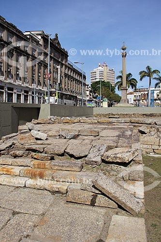 Cais do Valongo e Cais da Imperatriz - importante ponto de desembarque de escravos na cidade, recuperados após escavações do Projeto Porto Maravilha  - Rio de Janeiro - Rio de Janeiro (RJ) - Brasil