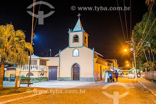 Fachada da Igreja de São Sebastião (1863)  - Angra dos Reis - Rio de Janeiro (RJ) - Brasil