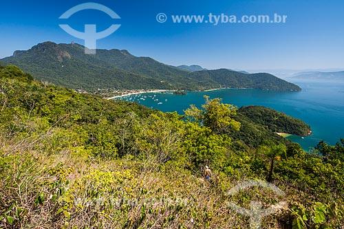 Vista geral da Praia do Abraão  - Angra dos Reis - Rio de Janeiro (RJ) - Brasil