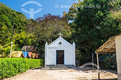 Fachada de capela na Praia Grande de Palmas  - Angra dos Reis - Rio de Janeiro (RJ) - Brasil