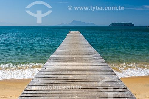Píer na orla da Praia Grande de Palmas  - Angra dos Reis - Rio de Janeiro (RJ) - Brasil