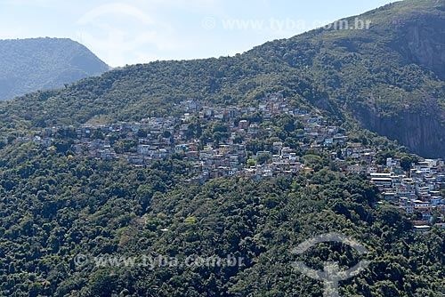 Foto aérea da favela do Vidigal  - Rio de Janeiro - Rio de Janeiro (RJ) - Brasil