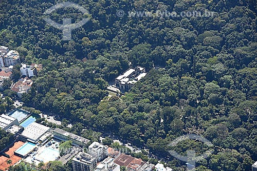 Foto aérea do Parque Henrique Lage - mais conhecido como Parque Lage  - Rio de Janeiro - Rio de Janeiro (RJ) - Brasil
