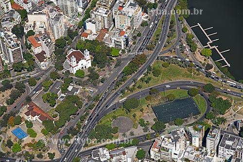 Foto aérea da Paróquia Santa Margarida Maria (1956)  - Rio de Janeiro - Rio de Janeiro (RJ) - Brasil