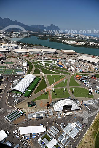 Foto aérea da área de montagem dos palcos do Rock in Rio no Parque Olímpico Rio 2016  - Rio de Janeiro - Rio de Janeiro (RJ) - Brasil