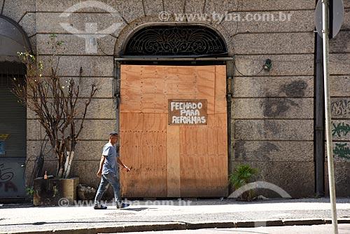 Tapume na entrada do Hotel Rio fechado para reformas  - Rio de Janeiro - Rio de Janeiro (RJ) - Brasil
