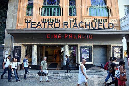 Fachada do Teatro Riachuelo Rio (1890) - antigo Cine Palácio  - Rio de Janeiro - Rio de Janeiro (RJ) - Brasil