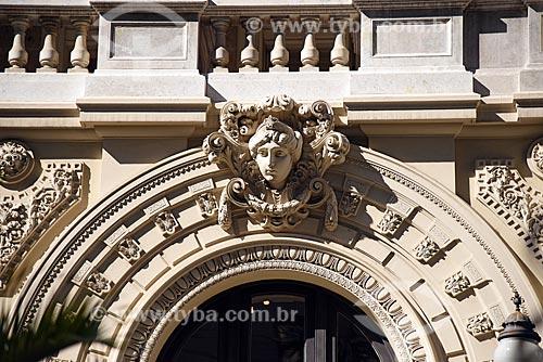 Detalhe de escultura no Theatro Municipal do Rio de Janeiro  - Rio de Janeiro - Rio de Janeiro (RJ) - Brasil