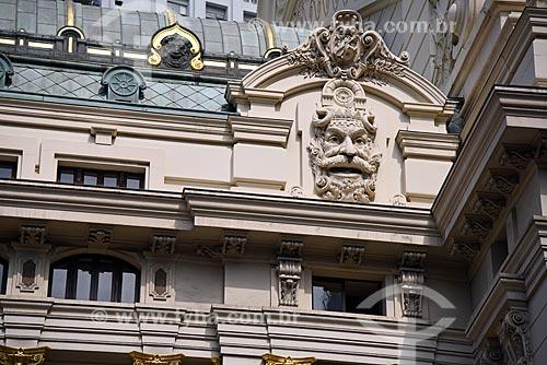 Detalhe da fachada do Theatro Municipal do Rio de Janeiro  - Rio de Janeiro - Rio de Janeiro (RJ) - Brasil