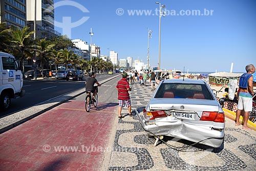 Acidente de trânsito na orla da Praia de Ipanema  - Rio de Janeiro - Rio de Janeiro (RJ) - Brasil
