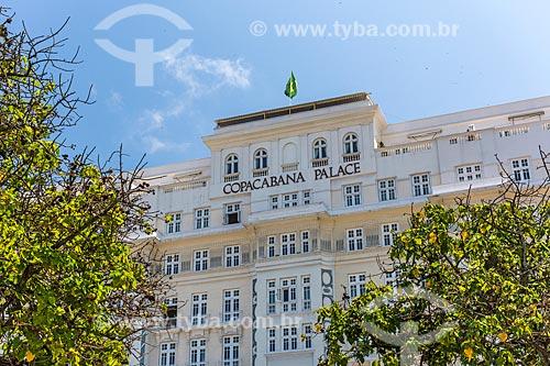 Detalhe da fachada do Hotel Copacabana Palace  - Rio de Janeiro - Rio de Janeiro (RJ) - Brasil