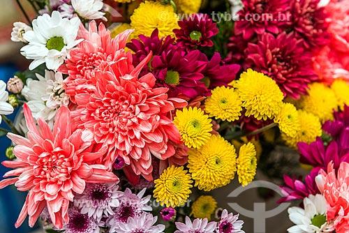 Detalhe de flores à venda em floricultura na Rua General Glicério  - Rio de Janeiro - Rio de Janeiro (RJ) - Brasil