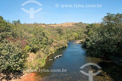 Vista do leito do Rio São Francisco  - São Roque de Minas - Minas Gerais (MG) - Brasil