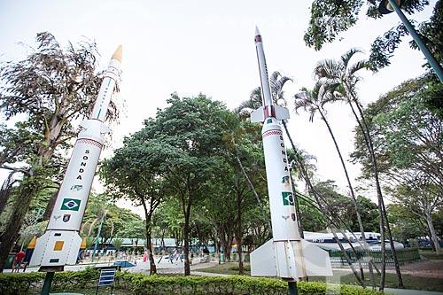 Sonda IV e Sonda III do Programa Aeroespacial Brasileiro no Parque Santos Dumont  - São José dos Campos - São Paulo (SP) - Brasil