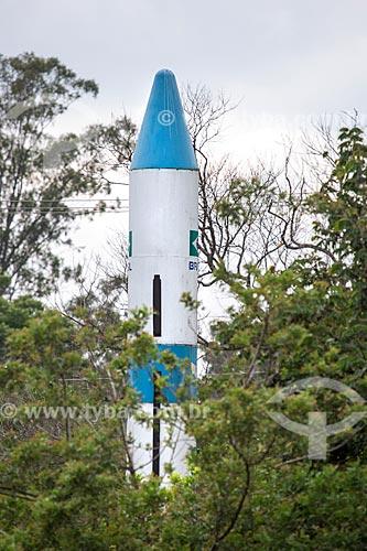 Sonda do Programa Aeroespacial Brasileiro em exibição no Memorial Aeroespacial Brasileiro (MAB)  - São José dos Campos - São Paulo (SP) - Brasil