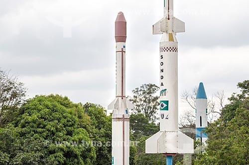 Sondas do Programa Aeroespacial Brasileiro em exibição no Memorial Aeroespacial Brasileiro (MAB)  - São José dos Campos - São Paulo (SP) - Brasil