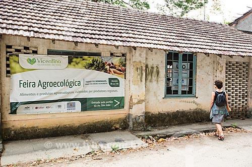 Cartaz de feira agroecológica no Parque Vicentina Aranha  - São José dos Campos - São Paulo (SP) - Brasil