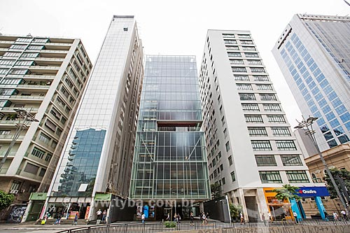 Fachada da sede do Instituto Moreira Salles na Avenida Paulista  - São Paulo - São Paulo (SP) - Brasil