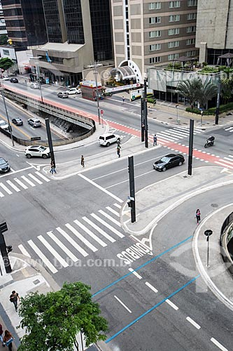 Vista da entrada do Túnel José Roberto Fanganiello Melhem na Avenida Paulista  - São Paulo - São Paulo (SP) - Brasil