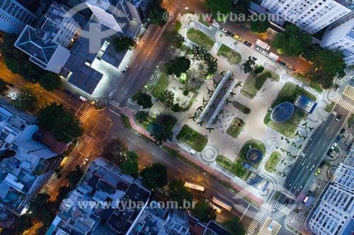 Vista aérea da Praça Antero de Quental - Visão Vertical  - Rio de Janeiro - Rio de Janeiro (RJ) - Brasil