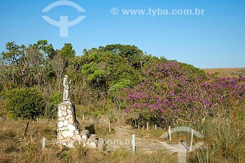 Estátua de São Francisco de Assis próximo da nascente do Rio São Francisco no Parque Nacional da Serra da Canastra  - São Roque de Minas - Minas Gerais (MG) - Brasil