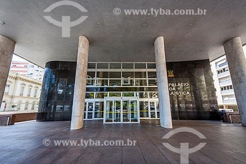 Fachada do Palácio da Justiça  - Porto Alegre - Rio Grande do Sul (RS) - Brasil