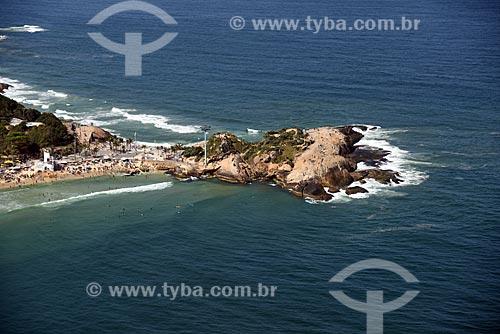 Foto aérea da Praia do Arpoador  - Rio de Janeiro - Rio de Janeiro (RJ) - Brasil