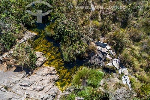 Vista de drone da Nascente do Rio São Francisco  - São Roque de Minas - Minas Gerais (MG) - Brasil
