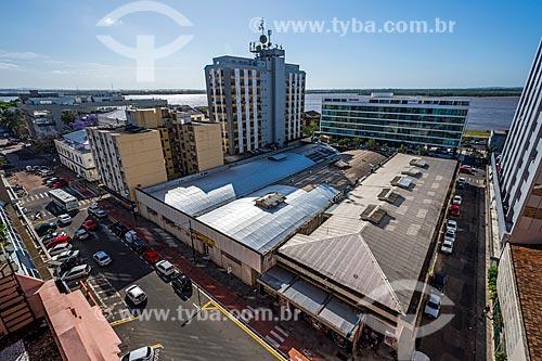 Vista a partir da Casa de Cultura Mario Quintana (Antigo Hotel Magestic), com Rio Jacuí ao fundo  - Porto Alegre - Rio Grande do Sul (RS) - Brasil