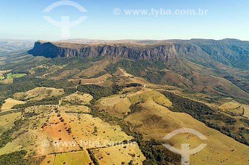Foto feita por drone do platô na parte alta da Serra da Canastra  - São Roque de Minas - Minas Gerais (MG) - Brasil
