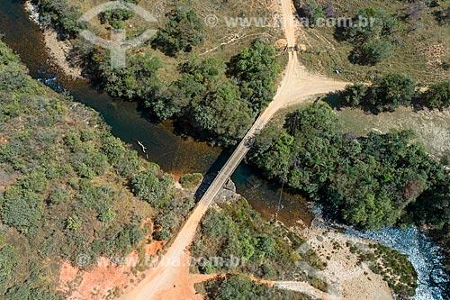 Foto feita por drone do Rio São Francisco na parte baixa da Serra da Canastra  - São Roque de Minas - Minas Gerais (MG) - Brasil