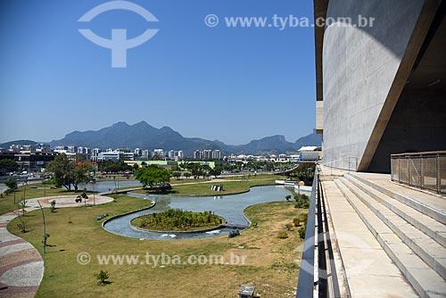 Fachada e jardim da Cidade das Artes - antiga Cidade da Música  - Rio de Janeiro - Rio de Janeiro (RJ) - Brasil