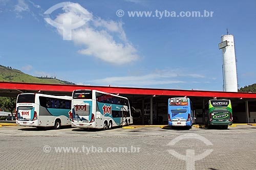 Ônibus parados no Terminal da Rede Graal  - Queluz - São Paulo (SP) - Brasil