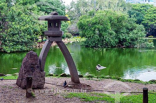 Vista do lago no Parque Moinhos de Vento  - Porto Alegre - Rio Grande do Sul (RS) - Brasil
