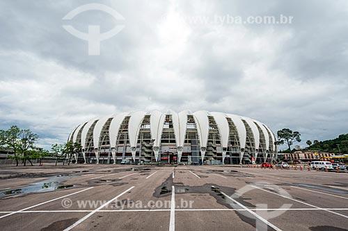 Fachada do Estádio José Pinheiro Borda (1969) - mais conhecido como Beira-Rio  - Porto Alegre - Rio Grande do Sul (RS) - Brasil