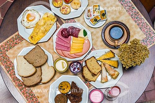 Café da manhã do Hotel Praça da Matriz  - Porto Alegre - Rio Grande do Sul (RS) - Brasil