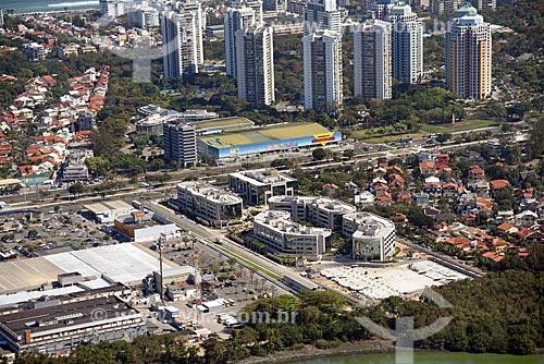 Foto aérea do supermercado Guanabara na Avenida das Américas  - Rio de Janeiro - Rio de Janeiro (RJ) - Brasil