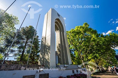 Escultura na Praça das Flores  - Nova Petrópolis - Rio Grande do Sul (RS) - Brasil