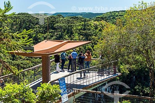 Vista de mirante no Parque Estadual do Caracol  - Canela - Rio Grande do Sul (RS) - Brasil