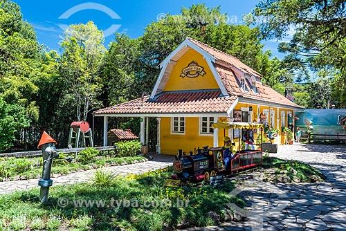 Estação para passeio turístico de trem no Parque Estadual do Caracol  - Canela - Rio Grande do Sul (RS) - Brasil