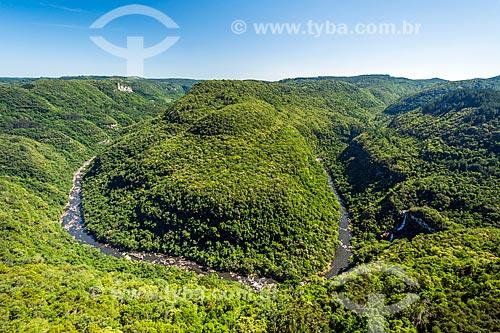 Vista do Rio Caí no Parque da Ferradura  - Gramado - Rio Grande do Sul (RS) - Brasil