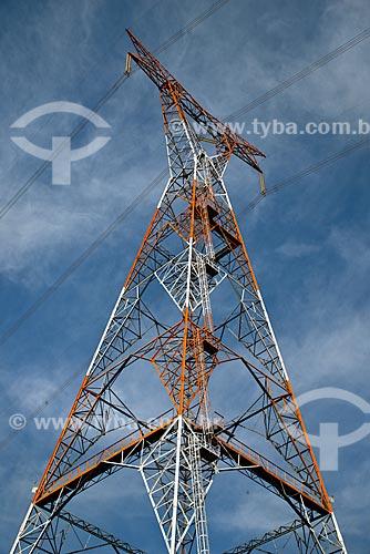 Torre de transmissão da Central de Conversão de Energia - onde é realizada a conversão das frequências de 60Hz (Brasil) para de 50Hz (Argentina)  - Garruchos - Rio Grande do Sul (RS) - Brasil