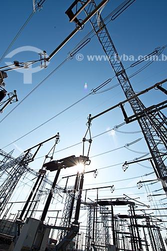 Vista da Central de Conversão de Energia - onde é realizada a conversão das frequências de 60Hz (Brasil) para de 50Hz (Argentina)  - Garruchos - Rio Grande do Sul (RS) - Brasil