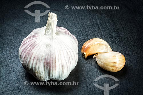 Detalhe de alho (Allium sativum)  - Florianopolis - Santa Catarina - Brazil
