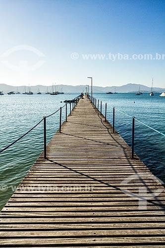 Píer na Praia de Canajurê  - Florianópolis - Santa Catarina (SC) - Brasil