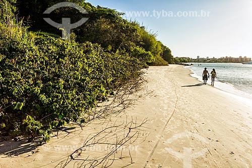 Vista da orla da Praia de Canajurê  - Florianópolis - Santa Catarina (SC) - Brasil