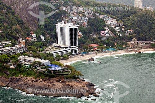 Foto aérea do Costa Brava Clube (1962) com o Sheraton Rio Hotel & Resort e a Praia do Vidigal  - Rio de Janeiro - Rio de Janeiro (RJ) - Brasil