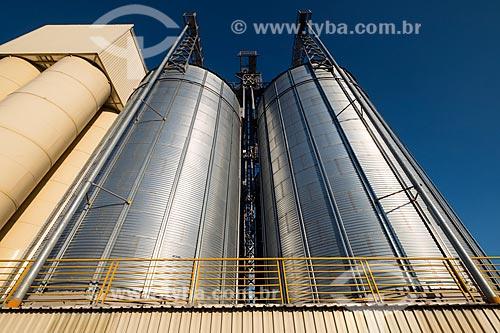 Detalhe dos silos do Moinho Santa Clara  - São Caetano do Sul - São Paulo (SP) - Brasil